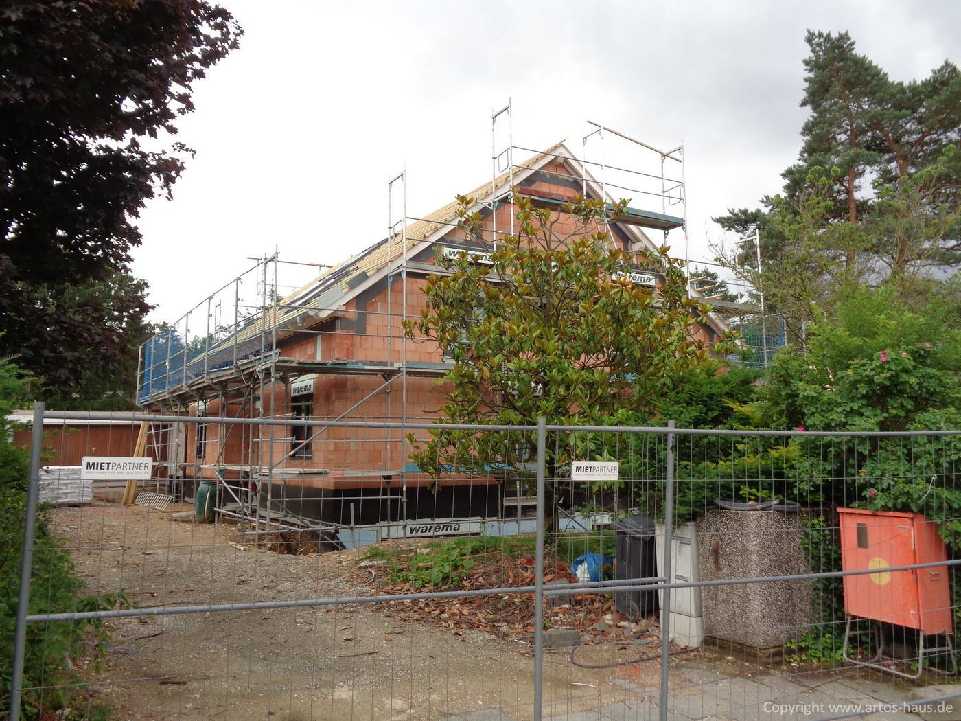Dacheindeckung Juli 2021 ein ARTOS-HAUS Bauvorhaben Bild 2