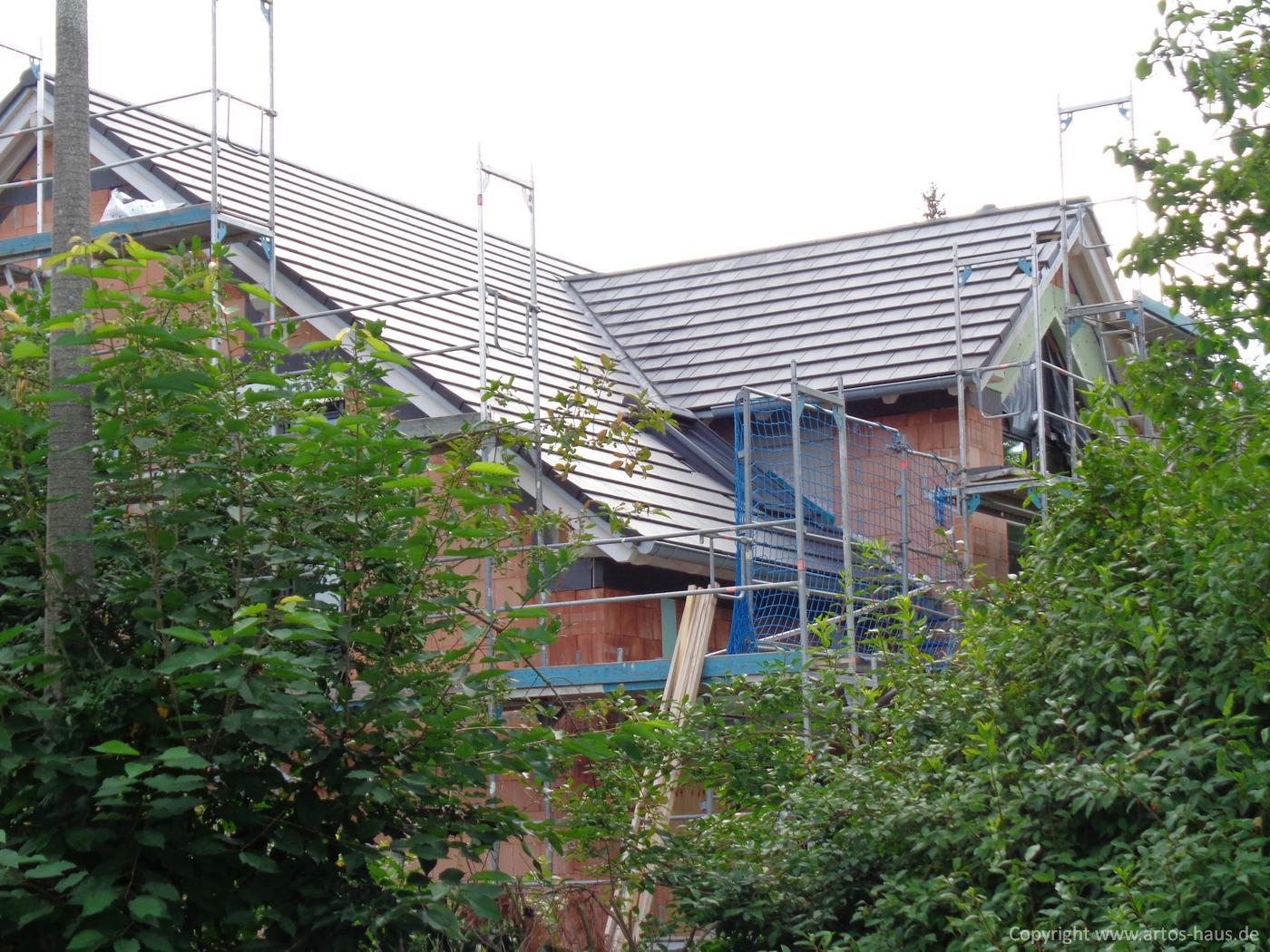 Dacheindeckung Juli 2021 ein ARTOS-HAUS Bauvorhaben Bild 5