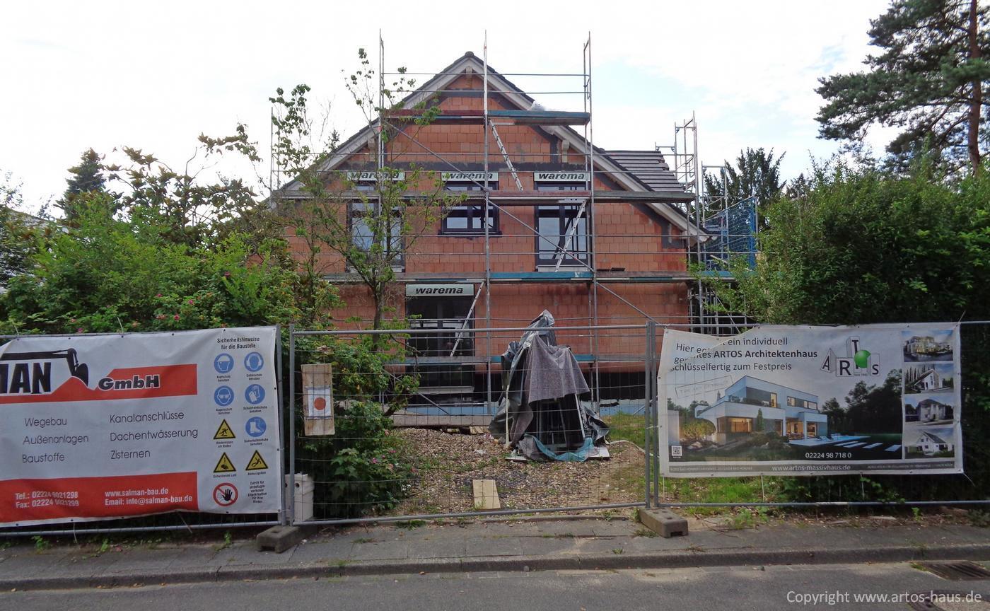 Dacheindeckung Juli 2021 ein ARTOS-HAUS Bauvorhaben Bild 1