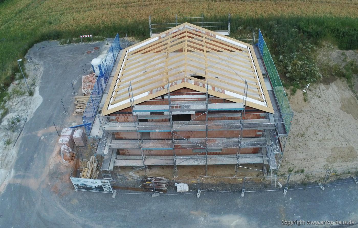 Luftbild der Baustelle Dormagen. ARTOS HAUS Juli 2021 Bild 1