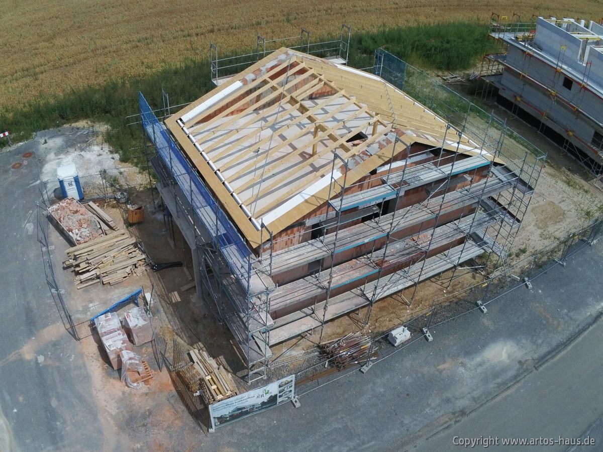 Luftbild der Baustelle Dormagen. ARTOS HAUS Juli 2021 Bild 3